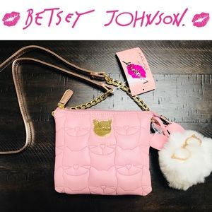 💕Betsey Johnson Quilted Quinn Doublet Crossbody💕